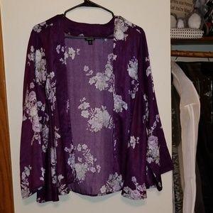 Waist-length kimono